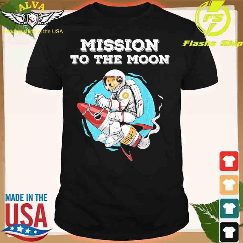 Doge-1 Mission To The Moon Dogecoin Hodl Funny Doge Crypto Shirt