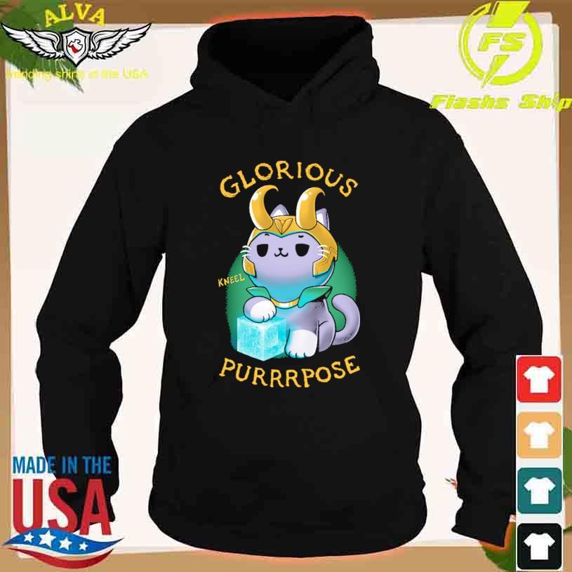 Cat Glorious Kneel Purrrpose s hoodie