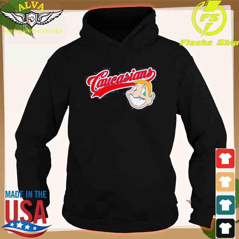 Caucasians Cleveland Indians middle finger s hoodie
