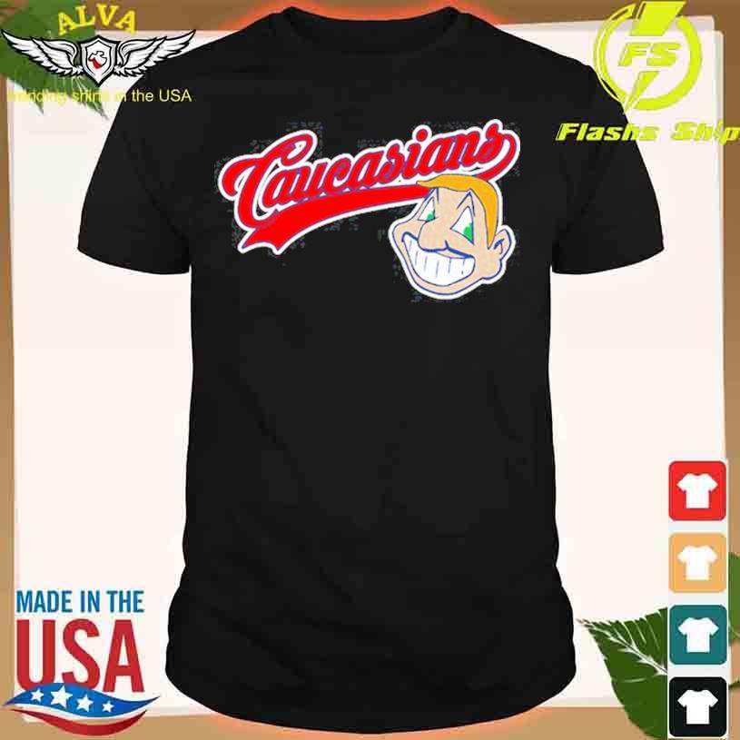 Caucasians Cleveland Indians middle finger shirt