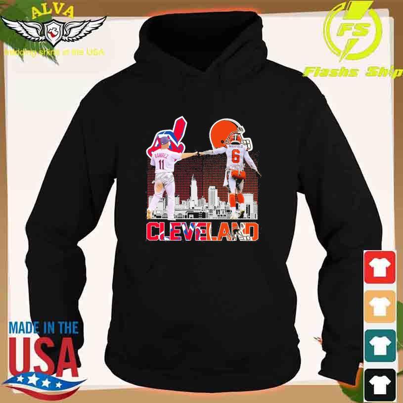 Cleveland Indians José Ramírez 11 Baker Mayfield 6 signatures s hoodie