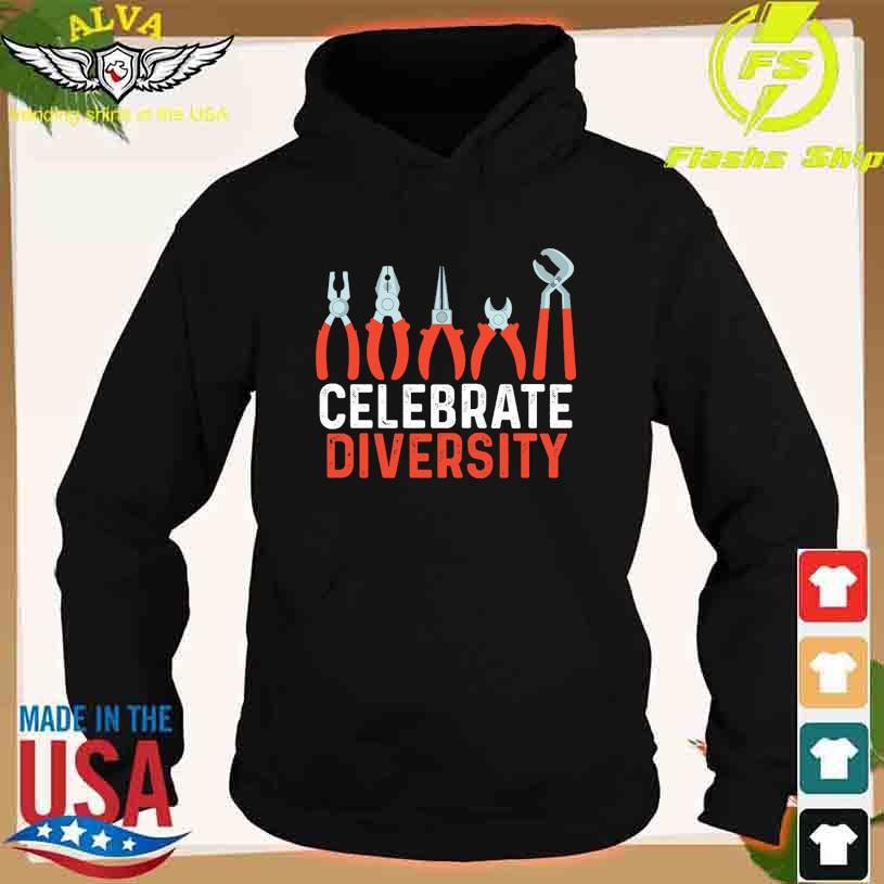 Diagonal pliers celebrate Diversity s hoodie