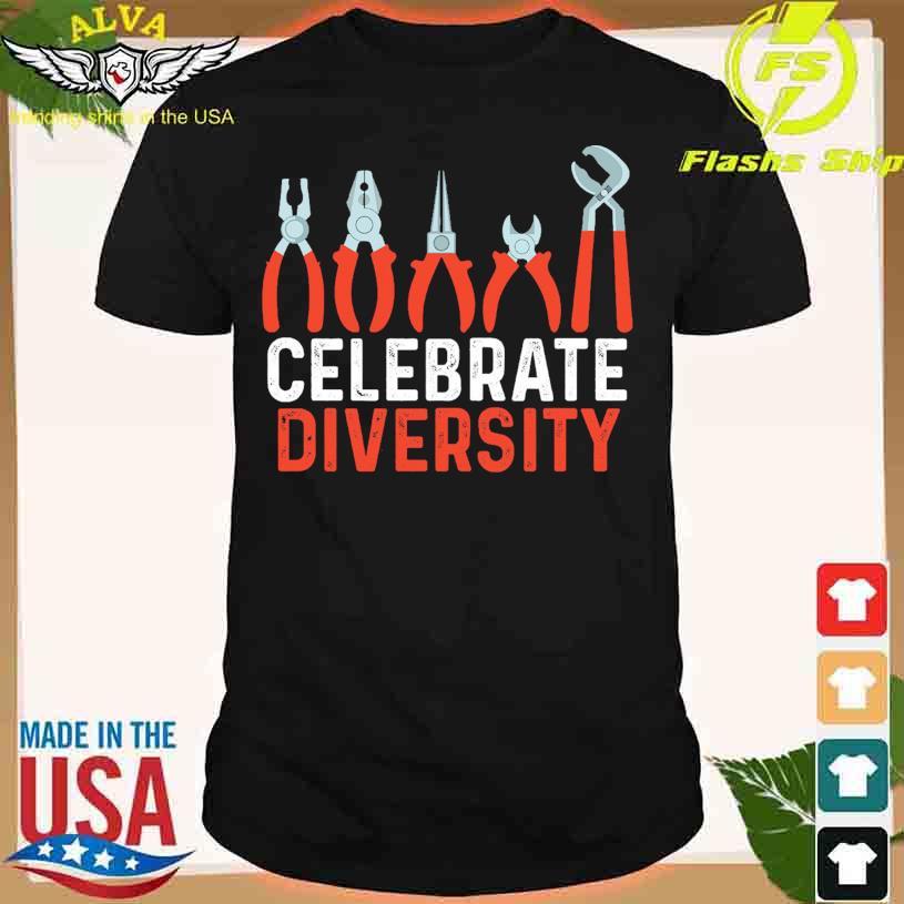 Diagonal pliers celebrate Diversity shirt