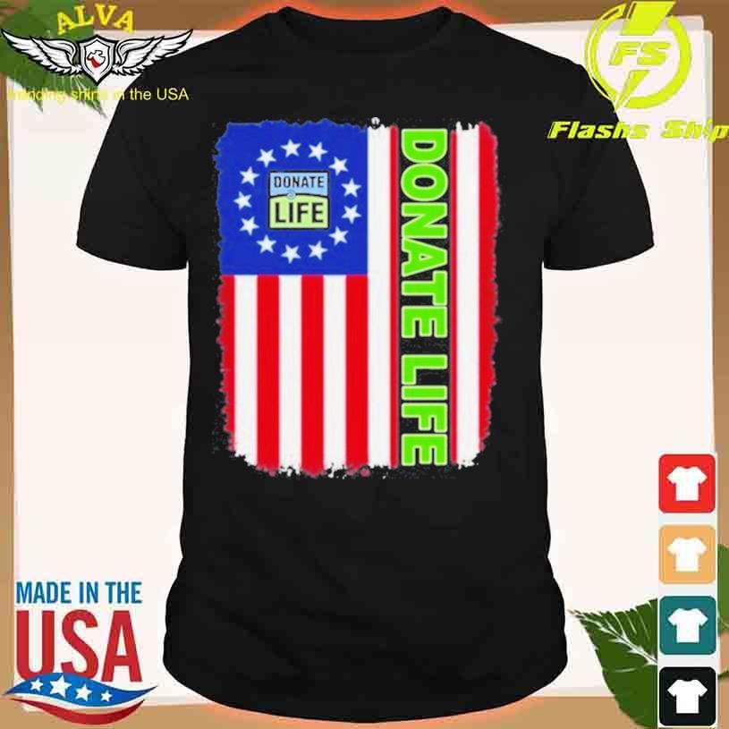 Donate Life Texas American Flag 2021 Shirt