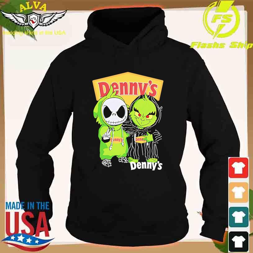 Friends Jack Skellington And The Grinch With Denny's Logo Shirt hoodie