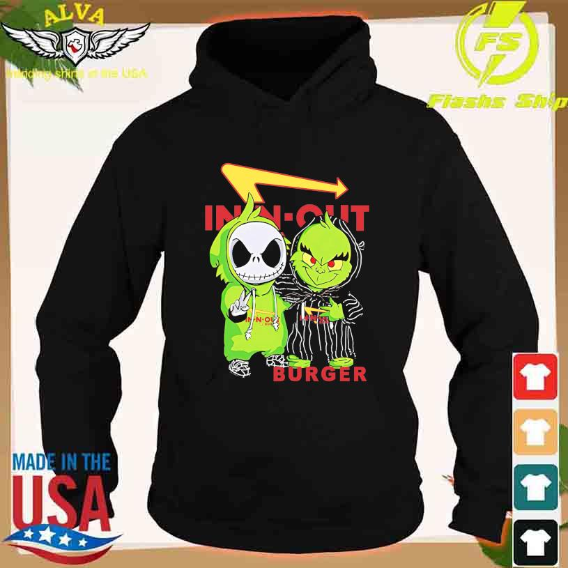 Friends Jack Skellington And The Grinch With In N Out Burger Logo Shirt hoodie