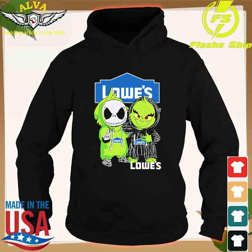 Friends Jack Skellington And The Grinch With Lowe's Logo Shirt hoodie
