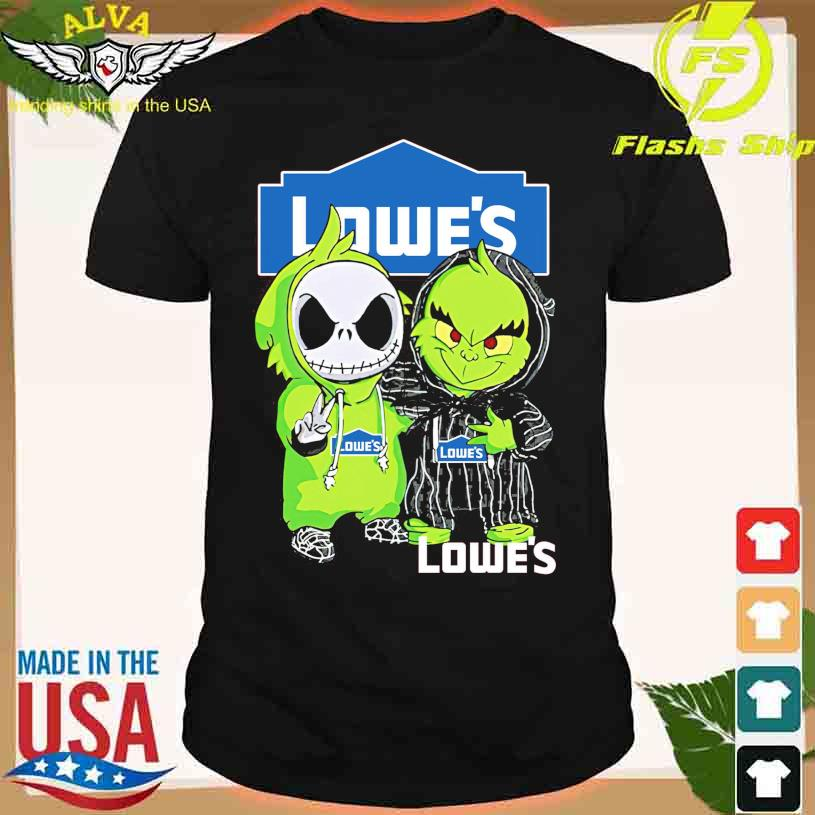 Friends Jack Skellington And The Grinch With Lowe's Logo Shirt