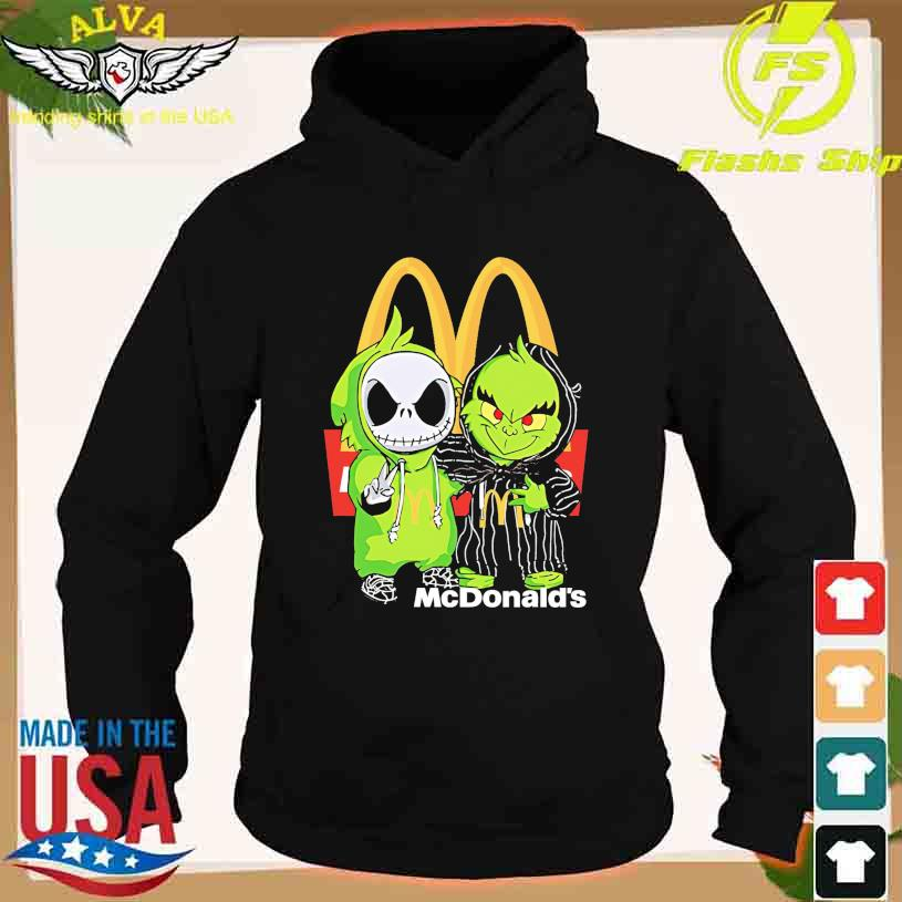 Friends Jack Skellington And The Grinch With Mc Donald's Logo Shirt hoodie