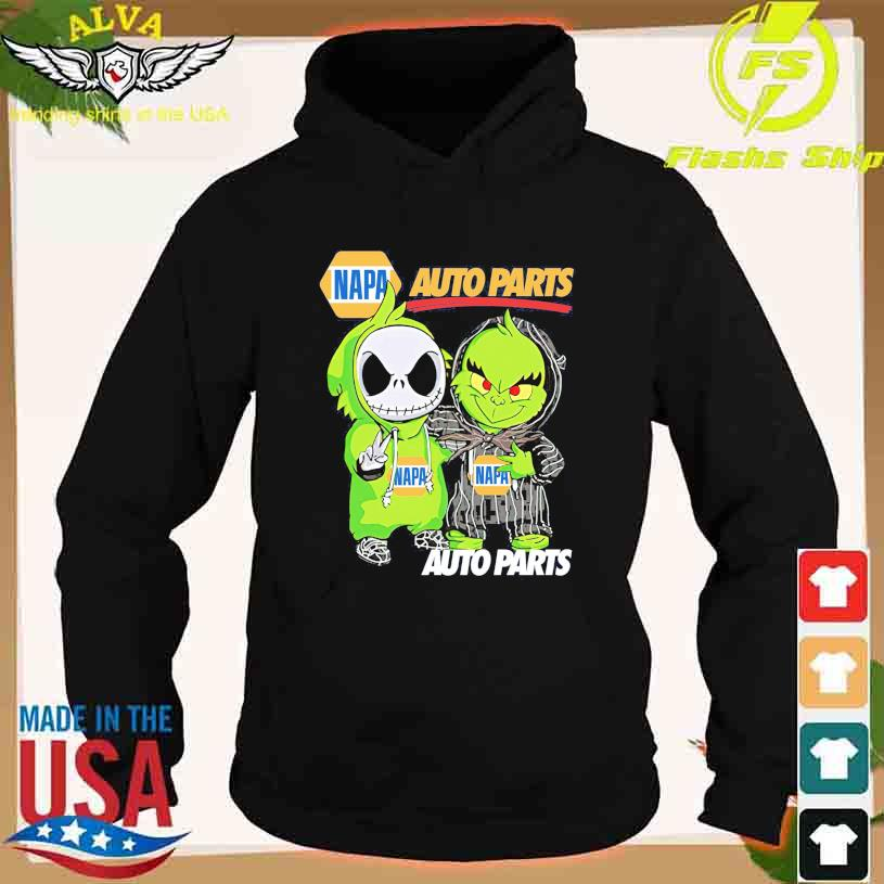 Friends Jack Skellington And The Grinch With Napa Auto Parts Logo Shirt hoodie