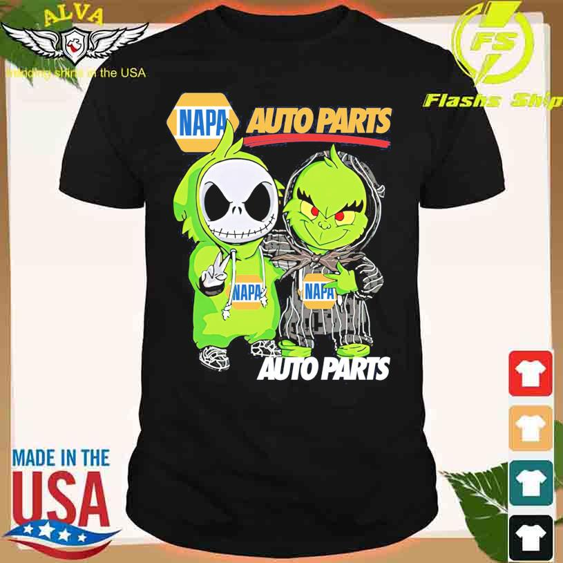Friends Jack Skellington And The Grinch With Napa Auto Parts Logo Shirt