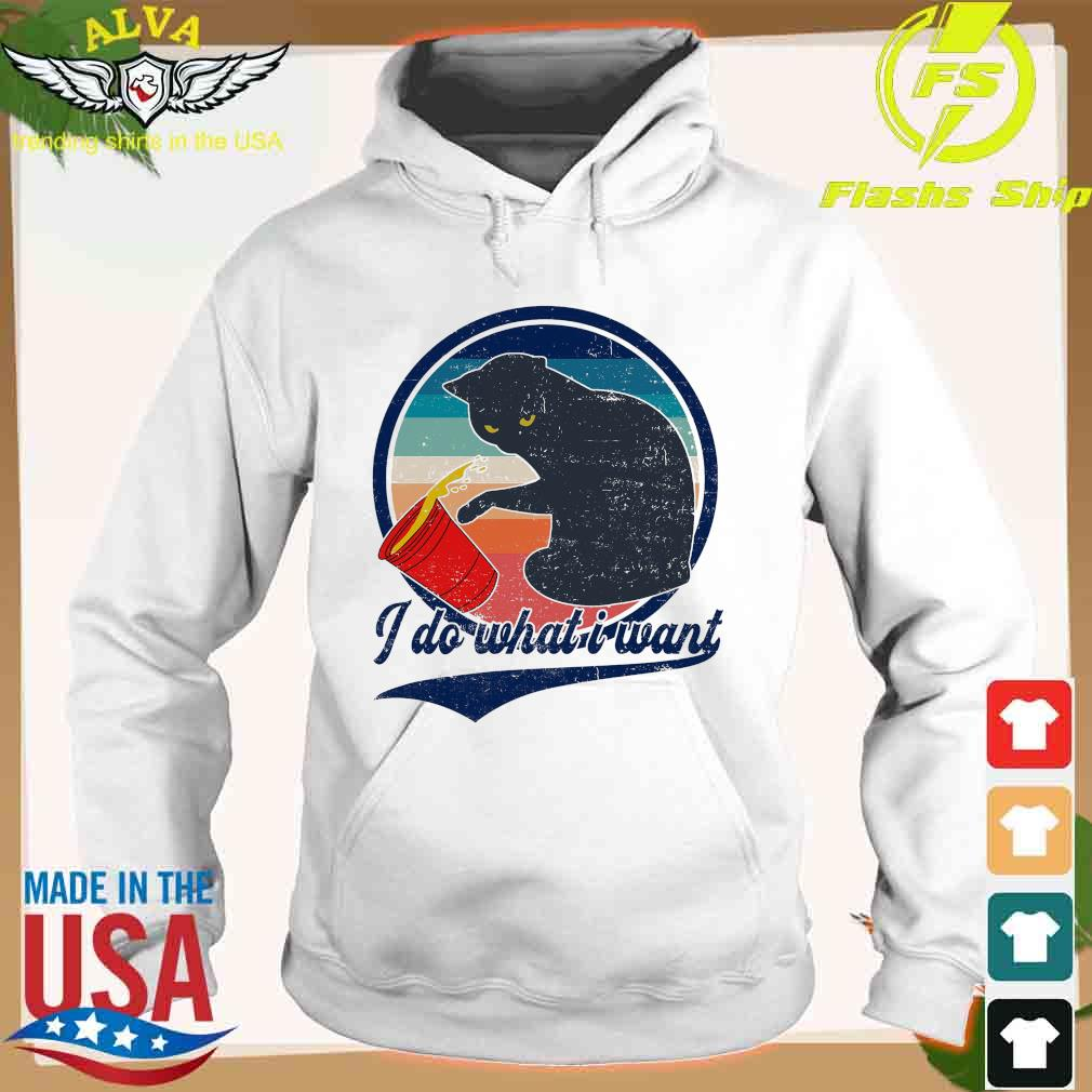 Retro Cat I Do What I Want Vintage Shirt hoodie